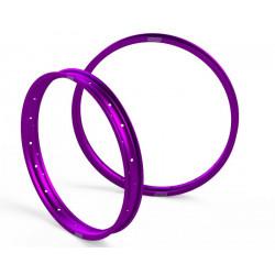 Jante Avant + Arrière - 21 x 1.60 - 19 x 2.15 - Purple