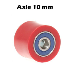 Universal Chain Roller - 38 mm / Axle 10mm / Width 24mm - Red